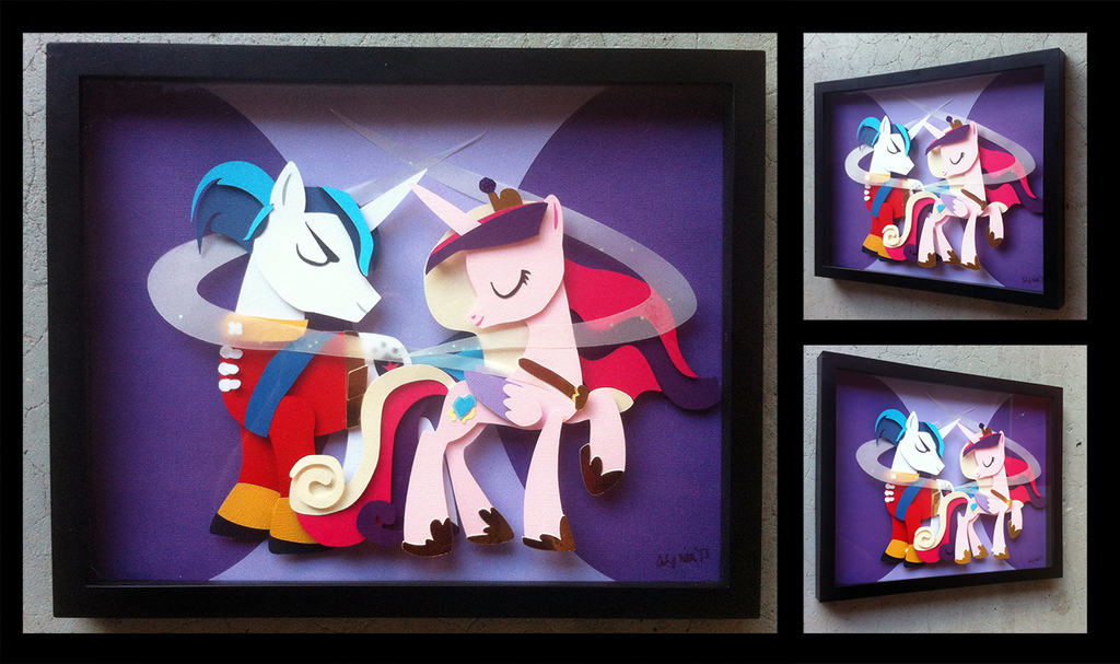 Shadowbox:  Cadance + Shining Armor (Build 2) by The-Paper-Pony