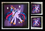 Commission:  Regal Twilight Shadowbox