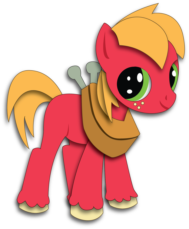 Shadowbox Mock-up:  Young Big Macintosh by The-Paper-Pony
