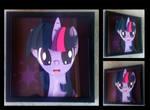 Commission:  Twilight Sparkle Portrait Shadowbox