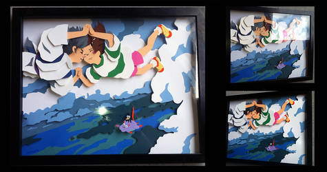 Commission: Spirited Away Shadowbox