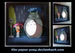 Commission:  My Neighbor Totoro Shadowbox