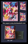 Shadowbox:  16x20 Mane 6 Library Party