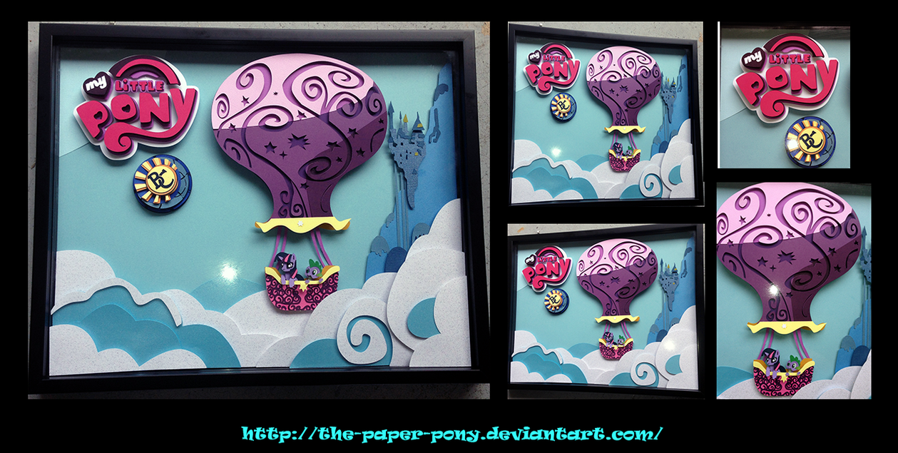 Bronycon Auction Piece: Twilight's Magic Balloon by The-Paper-Pony