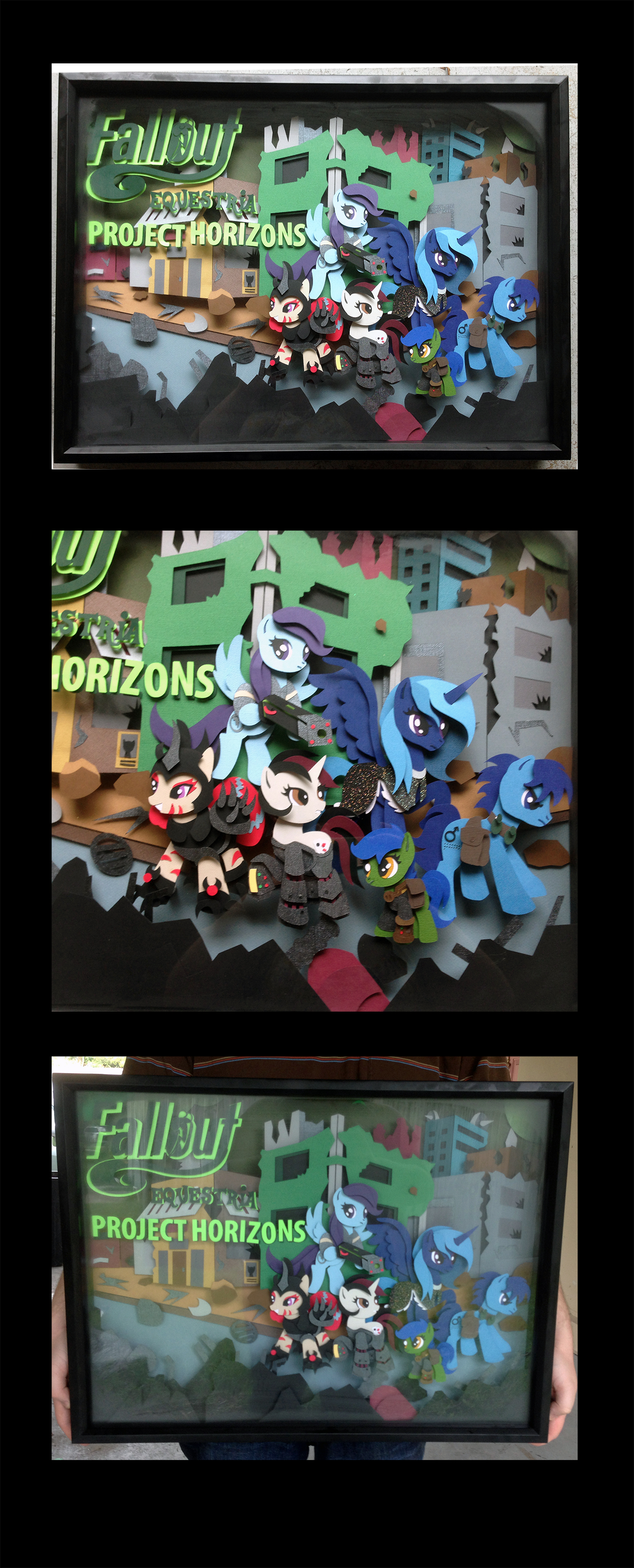 Commish: FOE - Project Horizons 24 x 18 Shadowbox by The-Paper-Pony