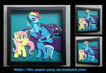Commission: Fluttershy Trixie and RD Shadowbox