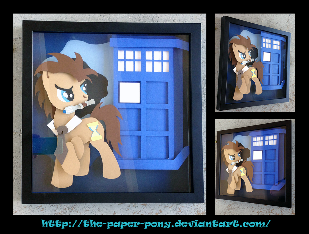 Doctor Whooves Shadowbox by The-Paper-Pony