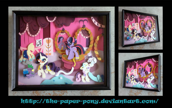 Commission: Carousel Boutique Shadowbox