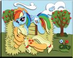 Commission: Appledash Shadowbox Mock-up