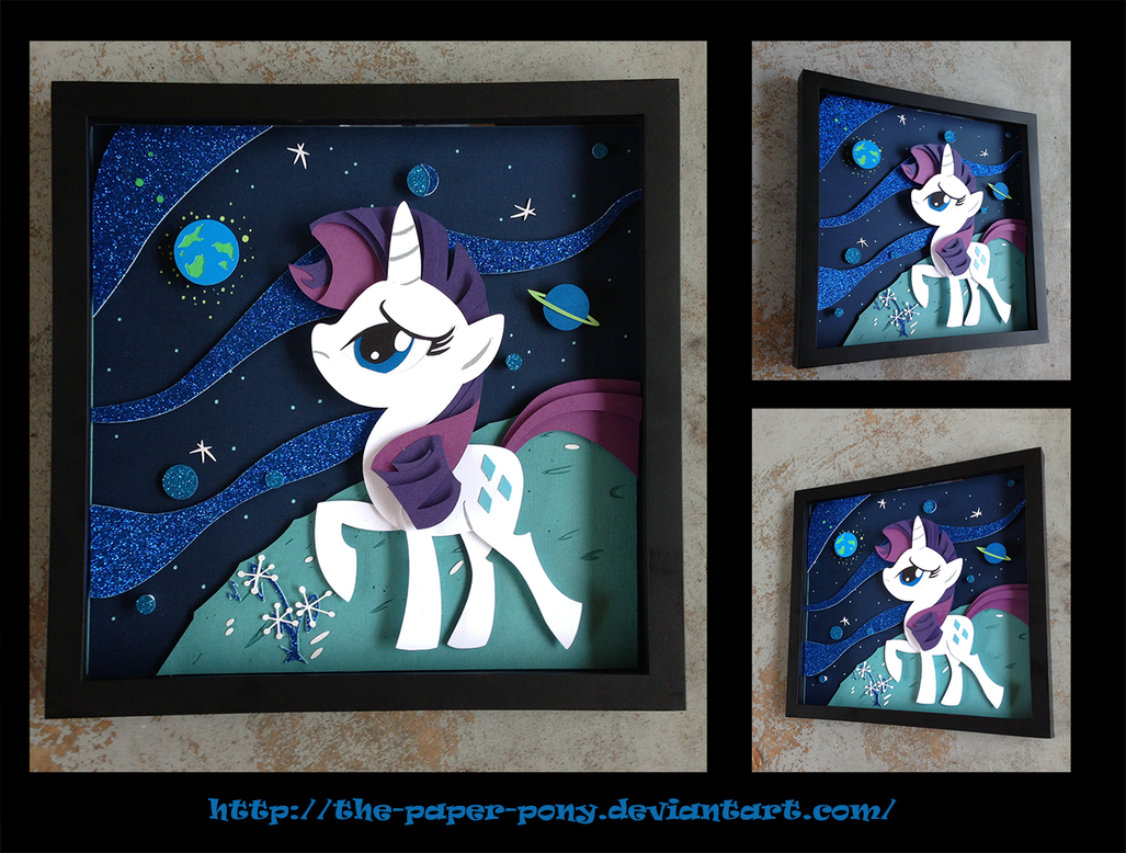 Commission: MLP Comic Cover 6B- Rarity in Space by The-Paper-Pony