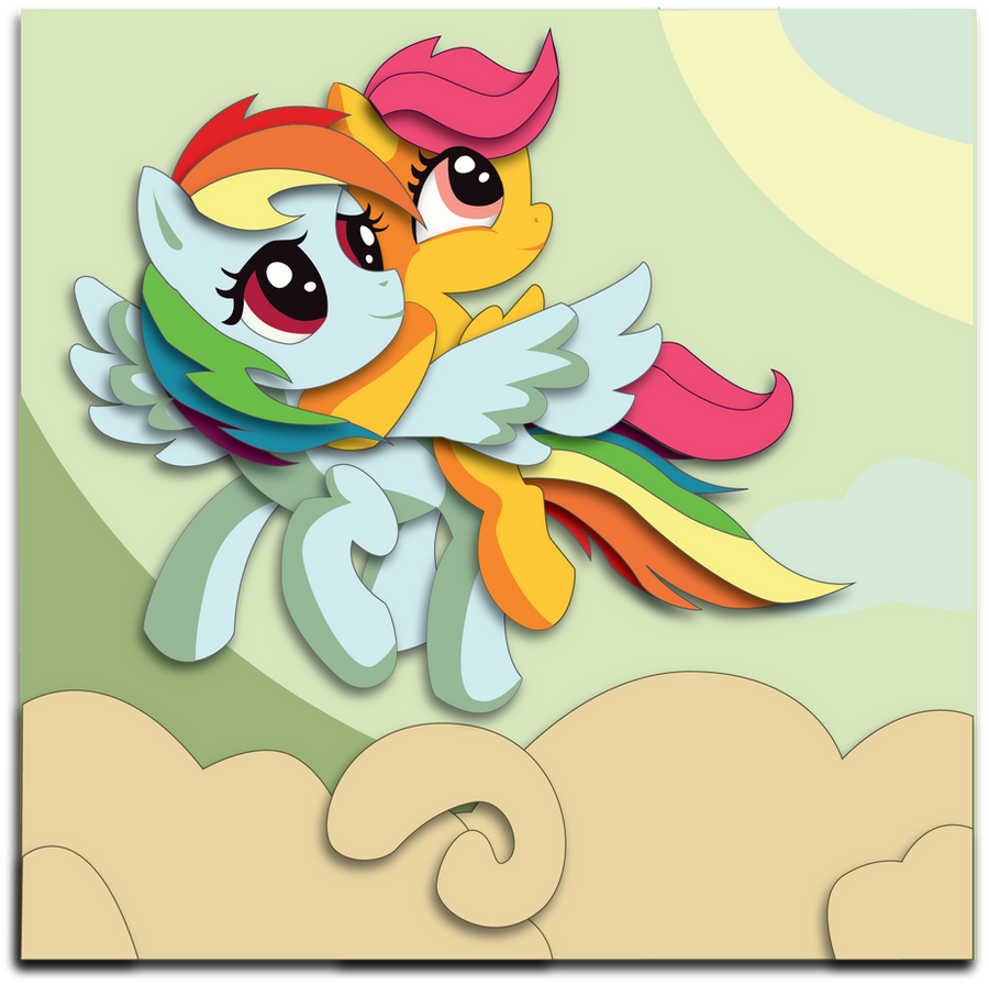 Commission: Rainbow Dash and Scootaloo