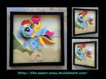 Commission: Rainbow Dash and Scootaloo Shadowbox