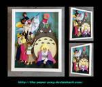 Commission: Studio Ghibli Shadowbox