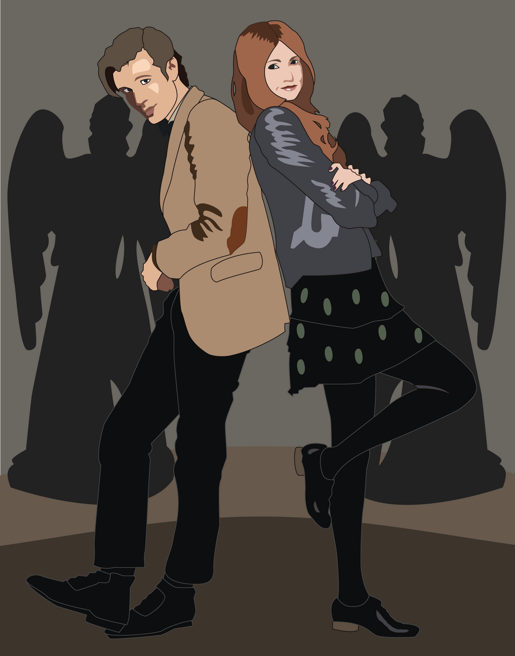 Shadowbox Mock up: 11th Doctor and Amy by The-Paper-Pony on DeviantArt