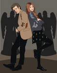 Shadowbox Mock up: 11th Doctor and Amy