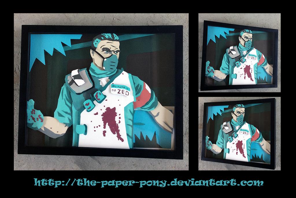 Commission dr zed shadowbox by the paper pony on deviantart - Borderlands 3 box art wallpaper ...