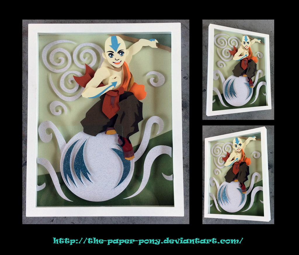 Avatar: The Last Airbender Aang Shadowbox by The-Paper-Pony