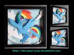 Bronycon 14 Charity Auction Rainbow Dash Shadowbox