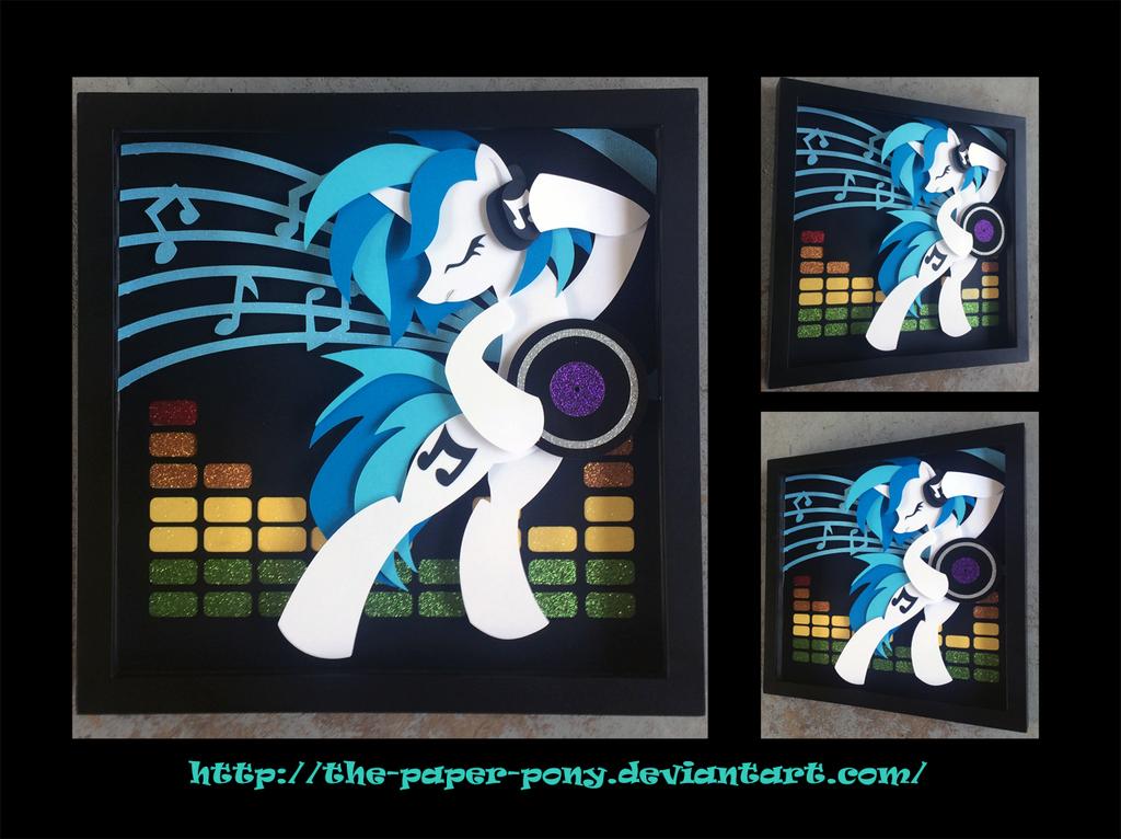 12 X 12 Vinyl Scratch By The Paper Pony On Deviantart