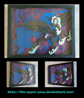 Nightmare Moon Shadowbox by The-Paper-Pony