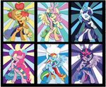 Stained Glass Mane 6 Mock Up