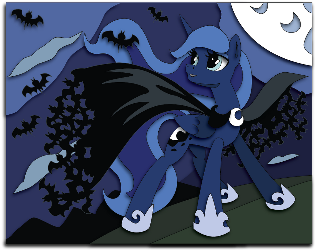 Nightmare Nights 2014 Exclusive Shadowbox Mock Up by The-Paper-Pony