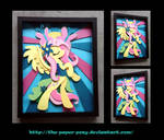 Stained Glass Fluttershy Shadowbox