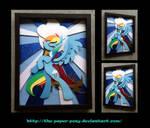 Stained Glass Rainbow Dash Shadowbox