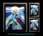 Stained Glass Rainbow Dash Shadowbox