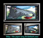 Toothless Art Trade Shadowbox