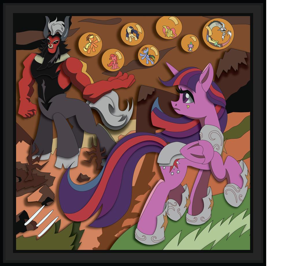 Shadowbox Mockup - Adversary (20 x 20) by The-Paper-Pony