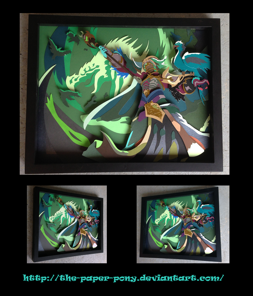 League of Legends Tyrant Swain Human Shadowbox by The-Paper-Pony