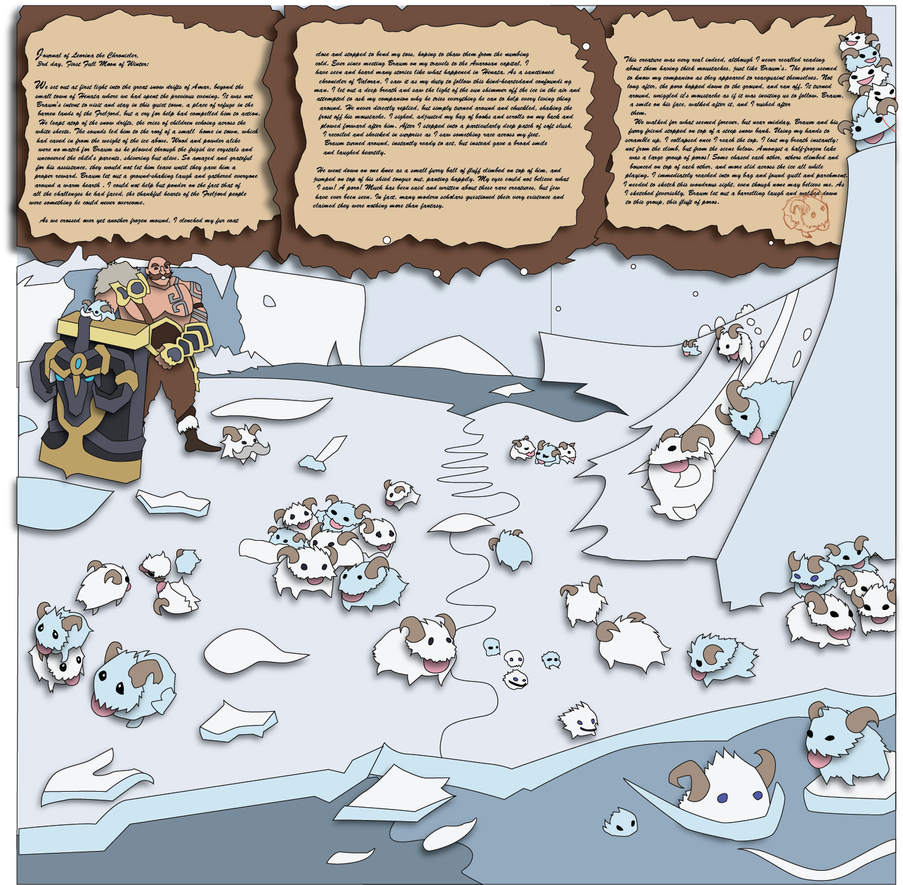 League of Legends Poros and Braum Mock-up by The-Paper-Pony