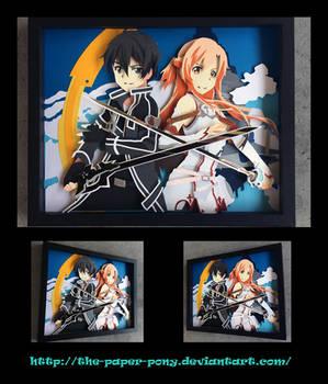 11x14 Sword Art Online Kirito and Asuna Shadowbox