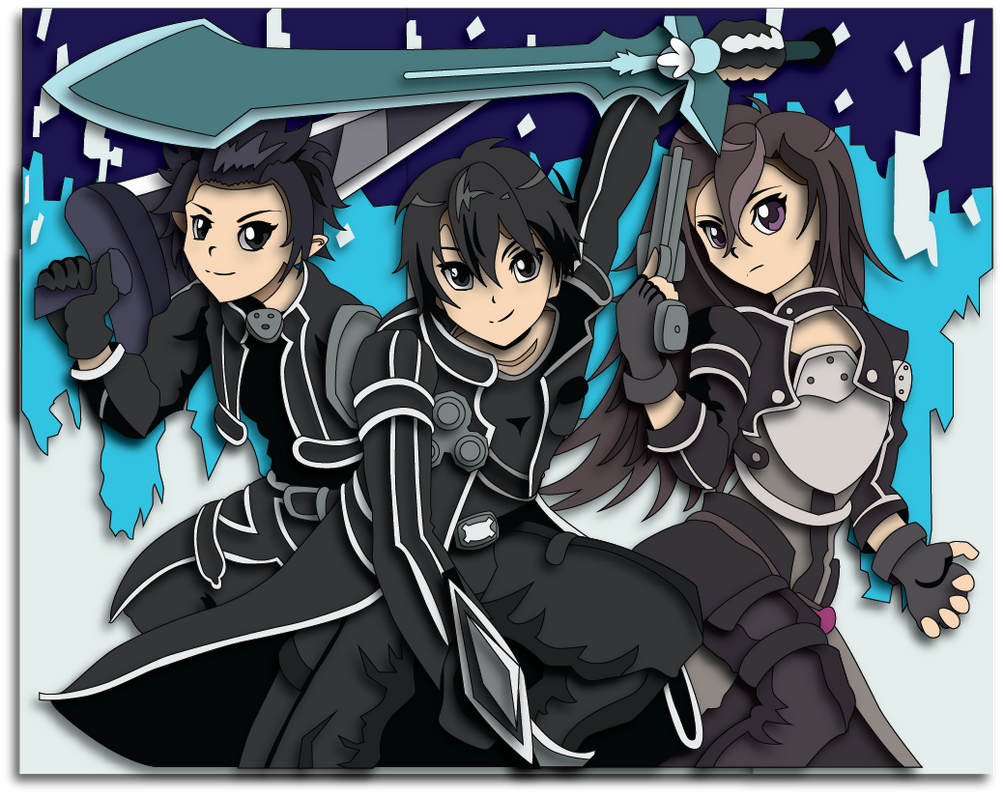 Sword Art Online Kirito Avatars Mock up by The-Paper-Pony