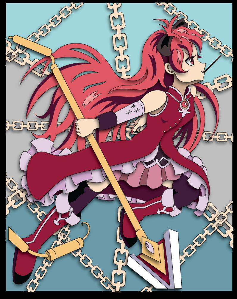 Magica Madoka Kyoko Shadowbox Mock-up by The-Paper-Pony