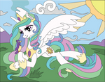 Princess Celestia shadowbox Mock up