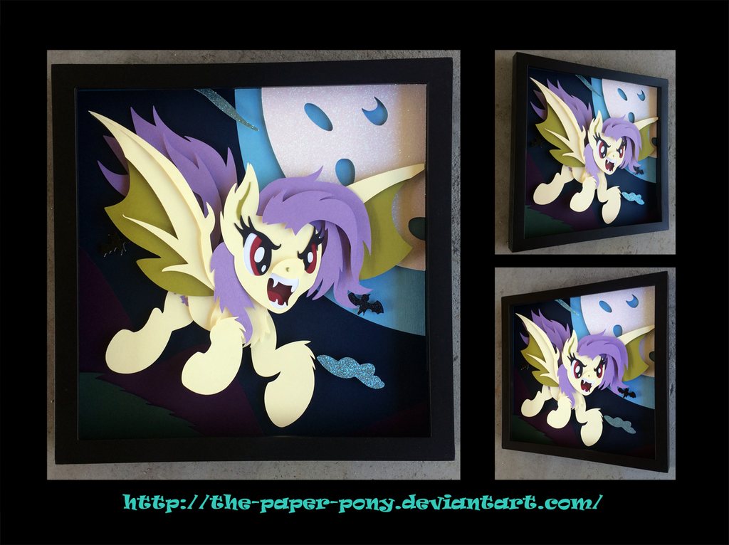 12x12 Fearsome Flutterbat Shadowbox by The-Paper-Pony