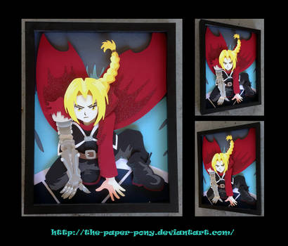 11 x 14 Fullmetal Alchemist Edward Elric Shadowbox