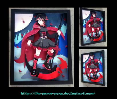 11 x 14 RWBY Ruby Rose Shadowbox