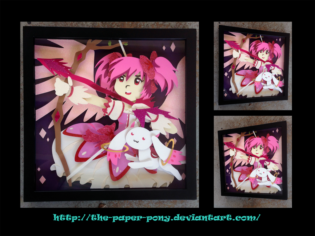 12 x 12 Magica Madoka Shadowbox by The-Paper-Pony