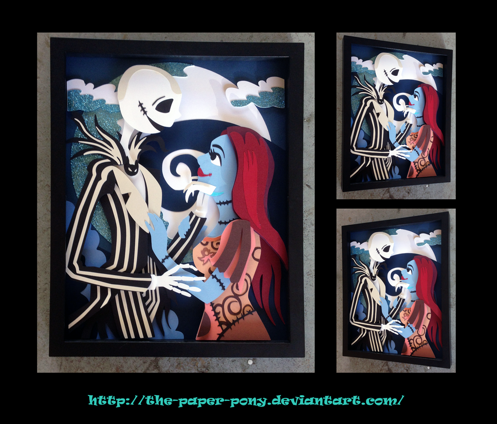 11 x 14 NBC Jack and Sally Shadowbox by The-Paper-Pony
