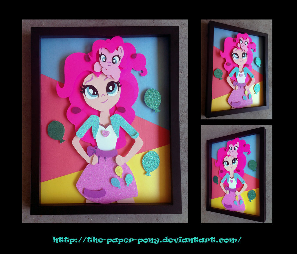 11 x 14 EqG Pinkie and Filly Shadowbox