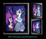 11x14 EqG Rarity and Filly Shadowbox
