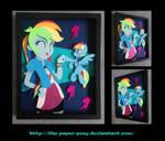 11x14 EqG Rainbow Dash Shadowbox