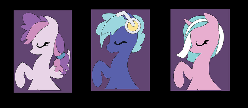 Bronycon Mascot Silhouettes for class by The-Paper-Pony