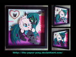 12x12 Flufflepuff and Chrysalis Shadowbox