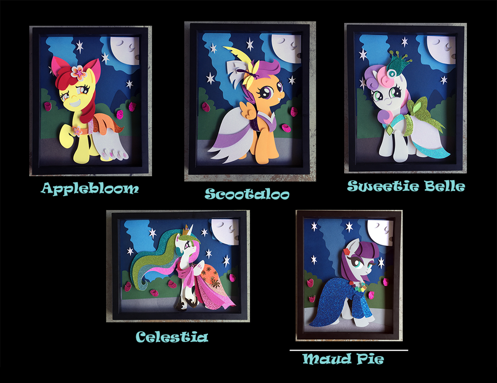 11x14 S5 Gala Dress Shadowboxes by The-Paper-Pony