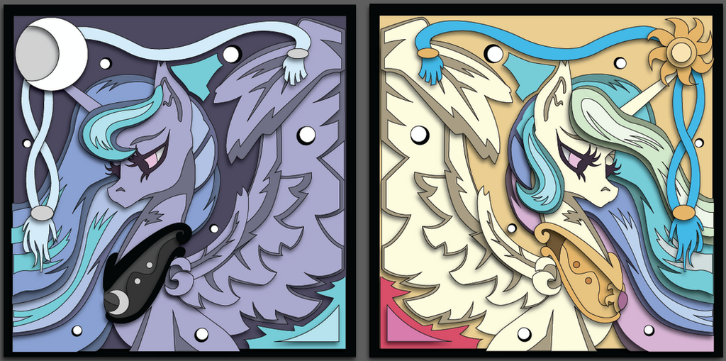 2016 Babscon Exclusive Shadowbox Mock-ups by The-Paper-Pony