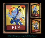 11x14 War Rainbow Dash Poster Shadowbox